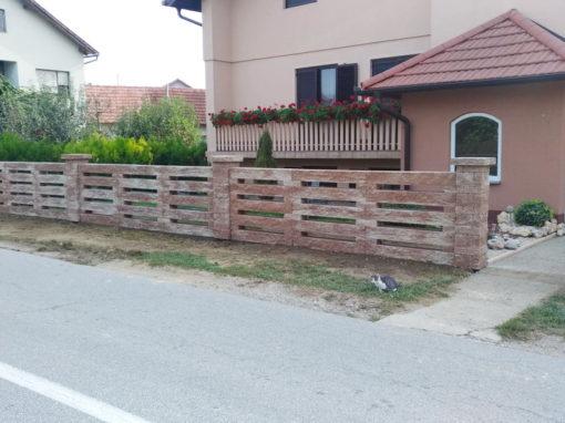 Postavljanje montažne betonske ograde – Vularija