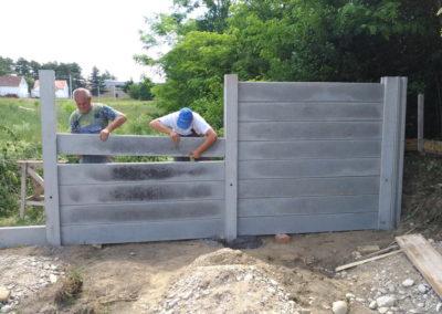 Postavljanje montažne kuće, ograde i polaganje tlakovaca, opločnika - Sračinec (7)